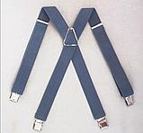 Широкие мужские подтяжки с усиленными клипсами для брюк и штанов 4 см, фото 2