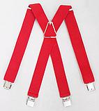 Широкие мужские подтяжки с усиленными клипсами для брюк и штанов 4 см, фото 3