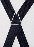 Широкие мужские подтяжки с усиленными клипсами для брюк и штанов 4 см, фото 5