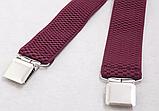 Широкие мужские подтяжки с усиленными клипсами для брюк и штанов 4 см, фото 7