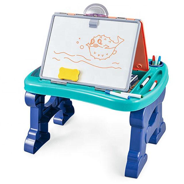 Мольберт для рисования мелом и маркером 8822 Голубой