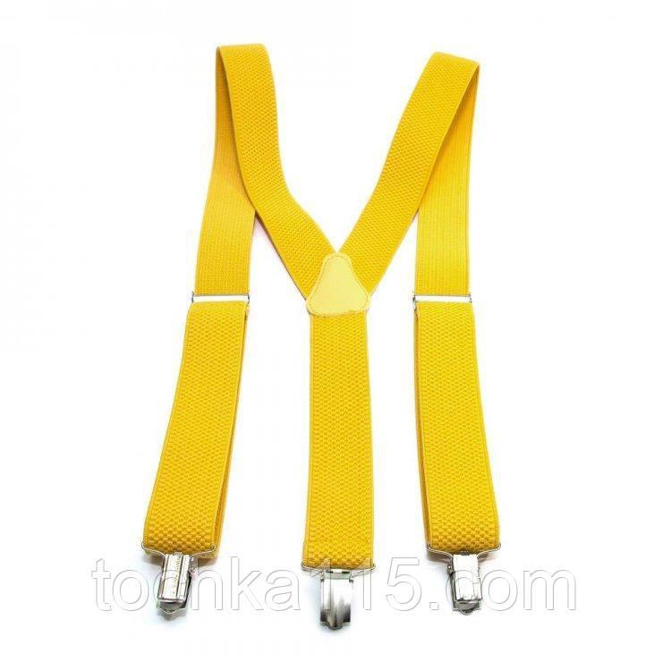 Желтые подтяжки для брюк и штанов