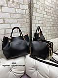 Стильный женский комплект из сумки и клатча, фото 2