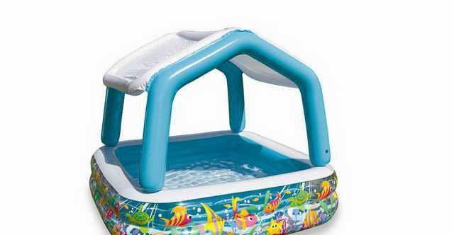 Дитячий надувний басейн Intex 57470 з дахом