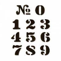 Форма для эмбоссирования Цифры 10 шт Textured Impressions