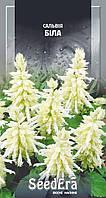 Семена однолетних цветов Сальвия Белая, 0.2 г, SeedEra для групповых посадок, рабаток, в цветниках и в горшках
