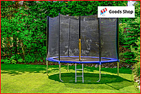 Батут прыгательный FunFit 312см c лесенкой и защитной сеткой Спортивный детский батут польский для дома детей