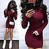 Платье мини вязаное с длинным рукавом шерсть, фото 6
