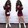 Платье мини вязаное с длинным рукавом шерсть, фото 5