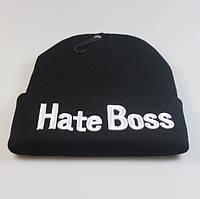 Шапка HATE BOSS размер One Size Черный