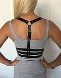 Чёрная Портупея с тройным обхватом на талии , идеально подчеркнёт твою талию и визуально увеличит грудь., фото 2