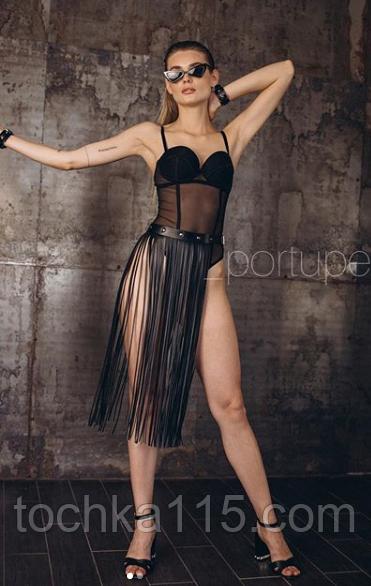 Жіноча портупея - бахрома на талію 80см, оновити твій повсякденний look