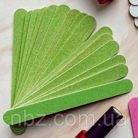Набор пилок для ногтей 120/120, цвет: зеленый (50шт/уп)