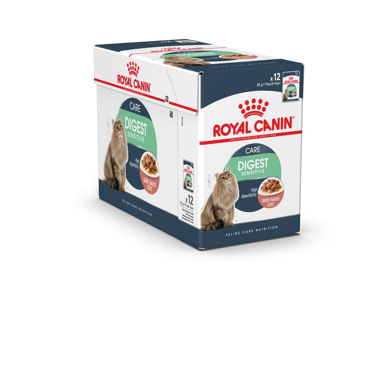 Royal Canin Digest Sensitive 85 гр упаковка 12 шт влажный корм (Роял Канин) для взрослых кошек в соусе