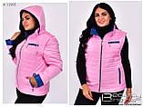 Модна жіноча демісезонна куртка трансформер,розміри :42-66., фото 3