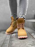 Женские зимние ботинки Timberland brown (Реплика ААА), фото 4