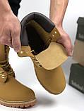 Женские зимние ботинки Timberland brown (Реплика ААА), фото 6