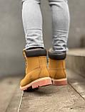 Женские зимние ботинки Timberland brown (Реплика ААА), фото 5