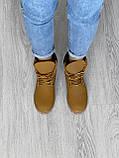 Женские зимние ботинки Timberland brown (Реплика ААА), фото 2