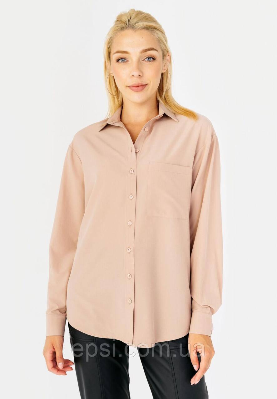 Женская рубашка со спущенным рукавом Bessa 2425-L молочная