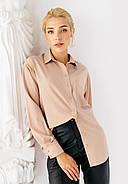 Женская рубашка со спущенным рукавом Bessa 2425-L молочная, фото 5