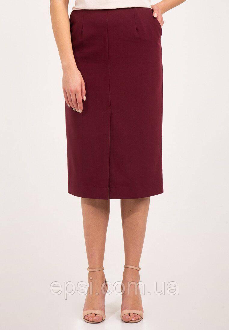 Женская юбка прямого кроя Bessa 4502-XS бордовая