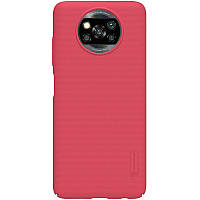 Nillkin Xiaomi Poco X3 PRO / X3 NFC Super Frosted Shield Red Чехол Накладка Бампер