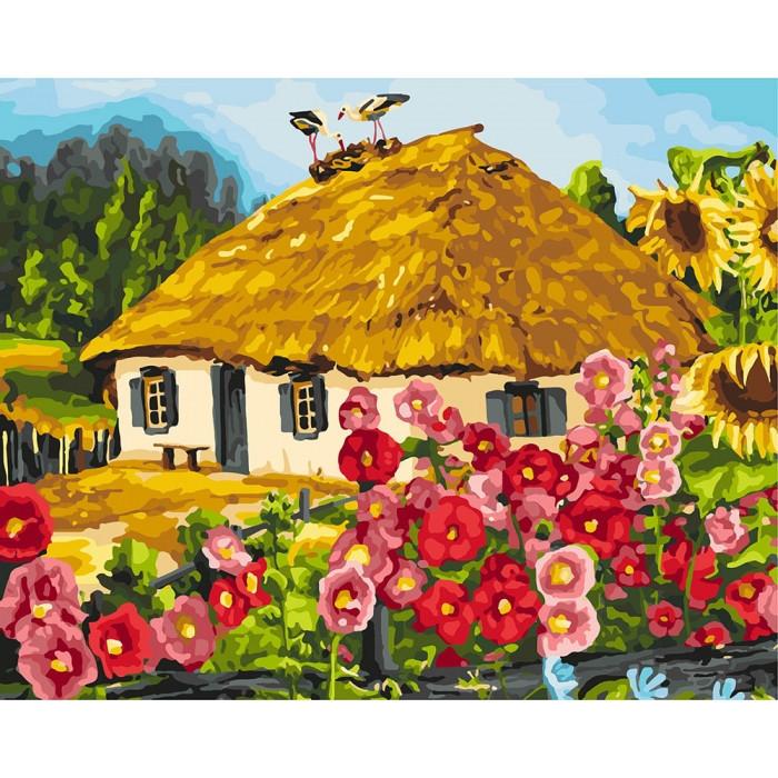 """Картина по номерам. Сельский пейзаж """"Живописный пейзаж"""" 40*50см KHO2286"""