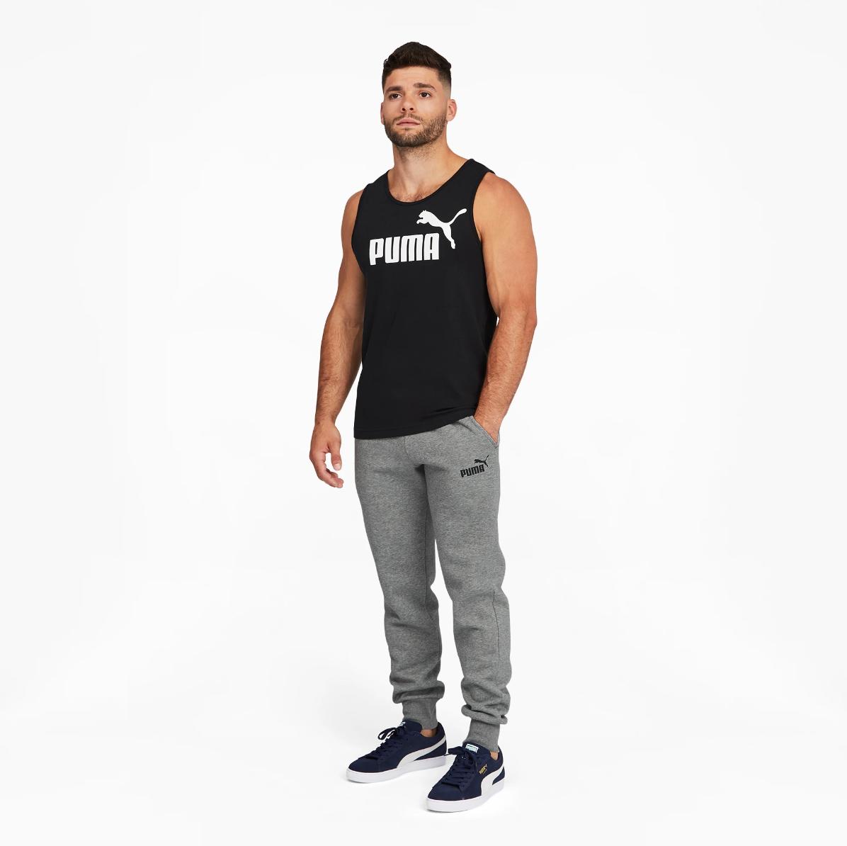 Брюки спортивные теплые (штаны) Puma Essentials Logo Original (Grey 586275_03) S, M, L