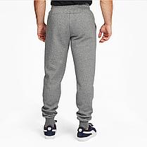 Брюки спортивные теплые (штаны) Puma Essentials Logo Original (Grey 586275_03) S, M, L, фото 3