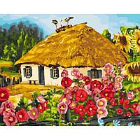 """Картина по номерам. Сельский пейзаж """"Живописный пейзаж"""" 40*50см KHO2286, картины по номерам,раскраски с"""