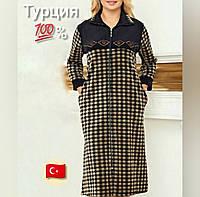 Красивый женский велюровый халат-больших размеров
