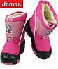 Зимові чоботи Демар-Demar DOGGY Липучка 20\21, рожевий