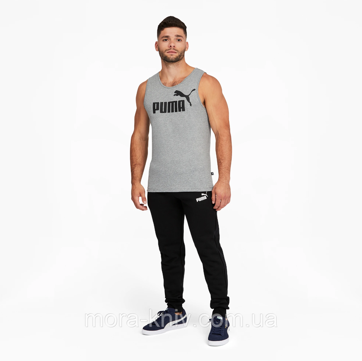 Спортивні штани Puma утеплені Essentials Logo Quadrato Black (586275_01-S)