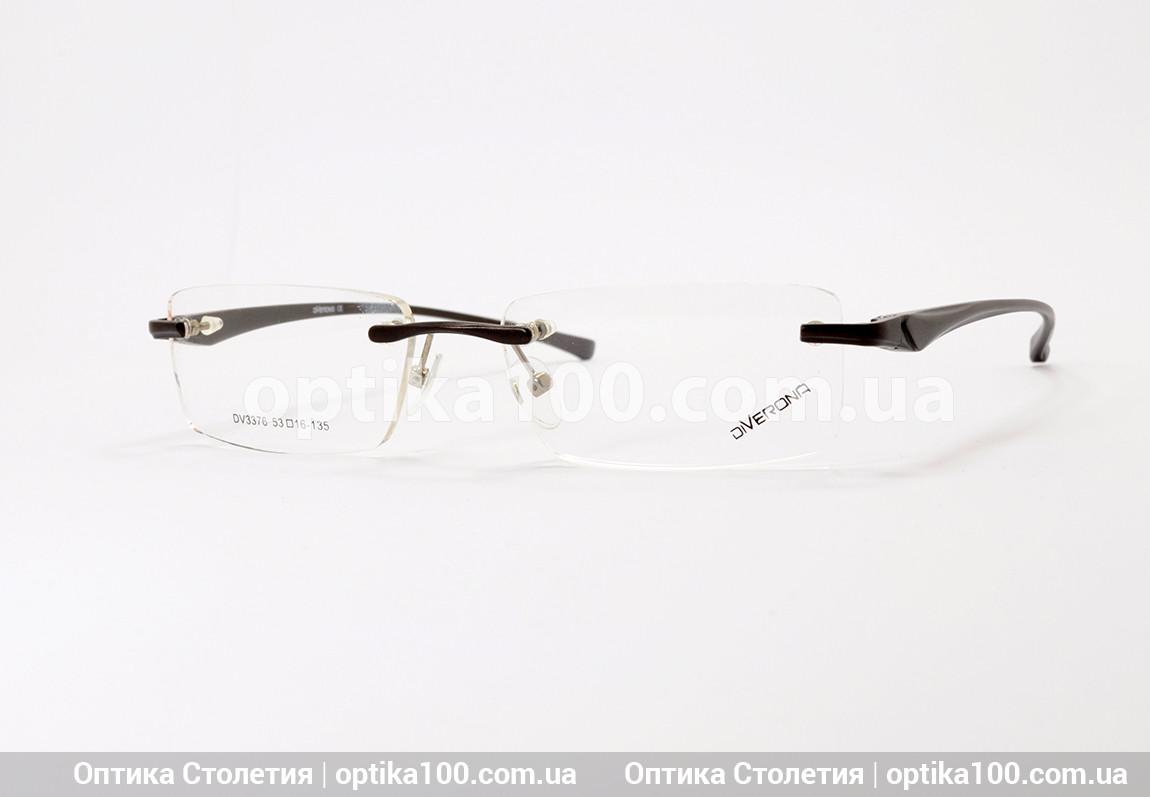 Безободковая мужская оправа для очков. Дужки на флекс-системе