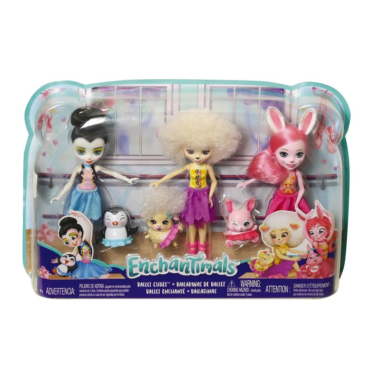 Enchantimals набір Подружки-Балерини Ягня Лорна, Кролик Брі, Пінгвінчик Пріна (Энчантималс Подружки-балерины )
