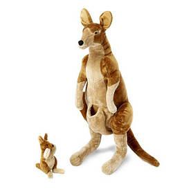 Плюшевая кенгуру с детенышем 89 см мягкая игрушка - подушка ТМ Melissa & Doug MD8834