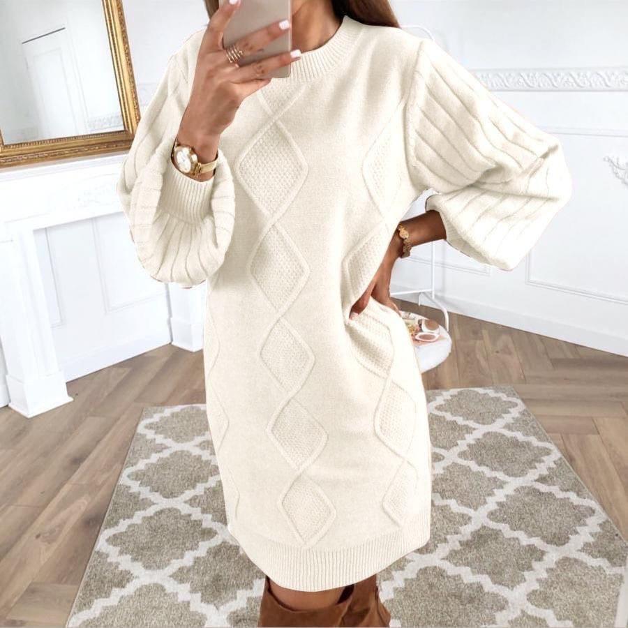Женское платье, вязка, р-р универсальный 42-46 (белый)