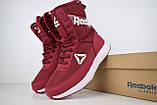 Женские зимние спортивные ботинки Reebok (сапоги) бордовые, фото 4