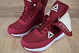Женские зимние спортивные ботинки Reebok (сапоги) бордовые, фото 6