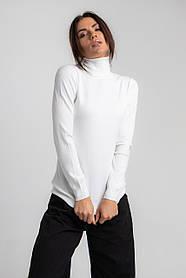 Модный женский гольф с высокой горловиной в 6 расцветках в размере SM/ML Белый, M-L