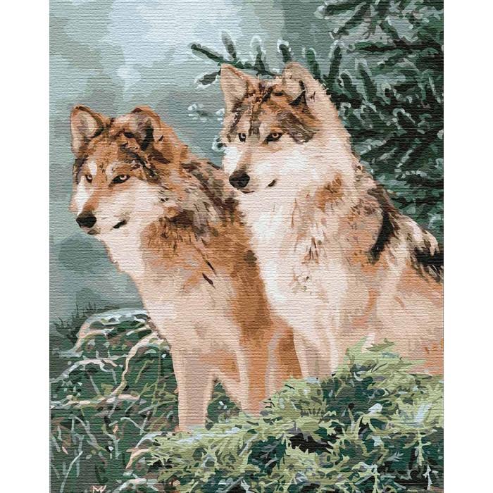 Картина по номерам Волчий взгляд ТМ Идейка 40 х 50 см КНО4191