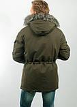 Мужская зимняя куртка с мехом, фото 4