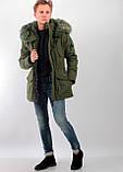 Мужская зимняя куртка с мехом, фото 2