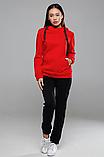 Женская теплая толстовка турецкая трехнитка на флиссе с капюшоном S/M/L/XL, фото 4