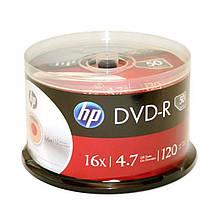 DVD-R HP (69317 /DME00025WIP-3) 4.7GB 16x, шпиндель, 50 шт