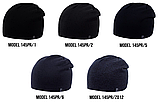 Шапка Ozzi buttons|buckles|tucks №145RP, шапка с застежкой сзади, фото 3
