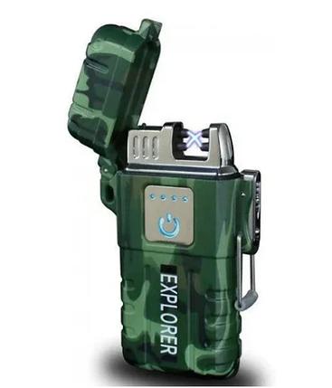 Электроимпульсная зажигалка JL317 Explore мощная зажигалка, фото 2