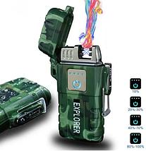 Электроимпульсная зажигалка JL317 Explore мощная зажигалка, фото 3
