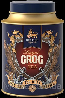 Чай черный  ароматизированный  Royal Grog  Richard ,ж\б, 80 гр